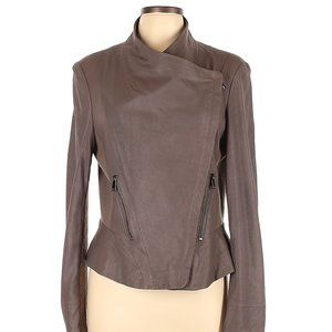 Barneya New York Brown Cross Zip Blazer